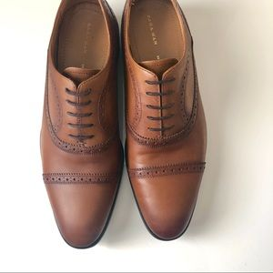 Zara Man Leather Oxfords in cognac